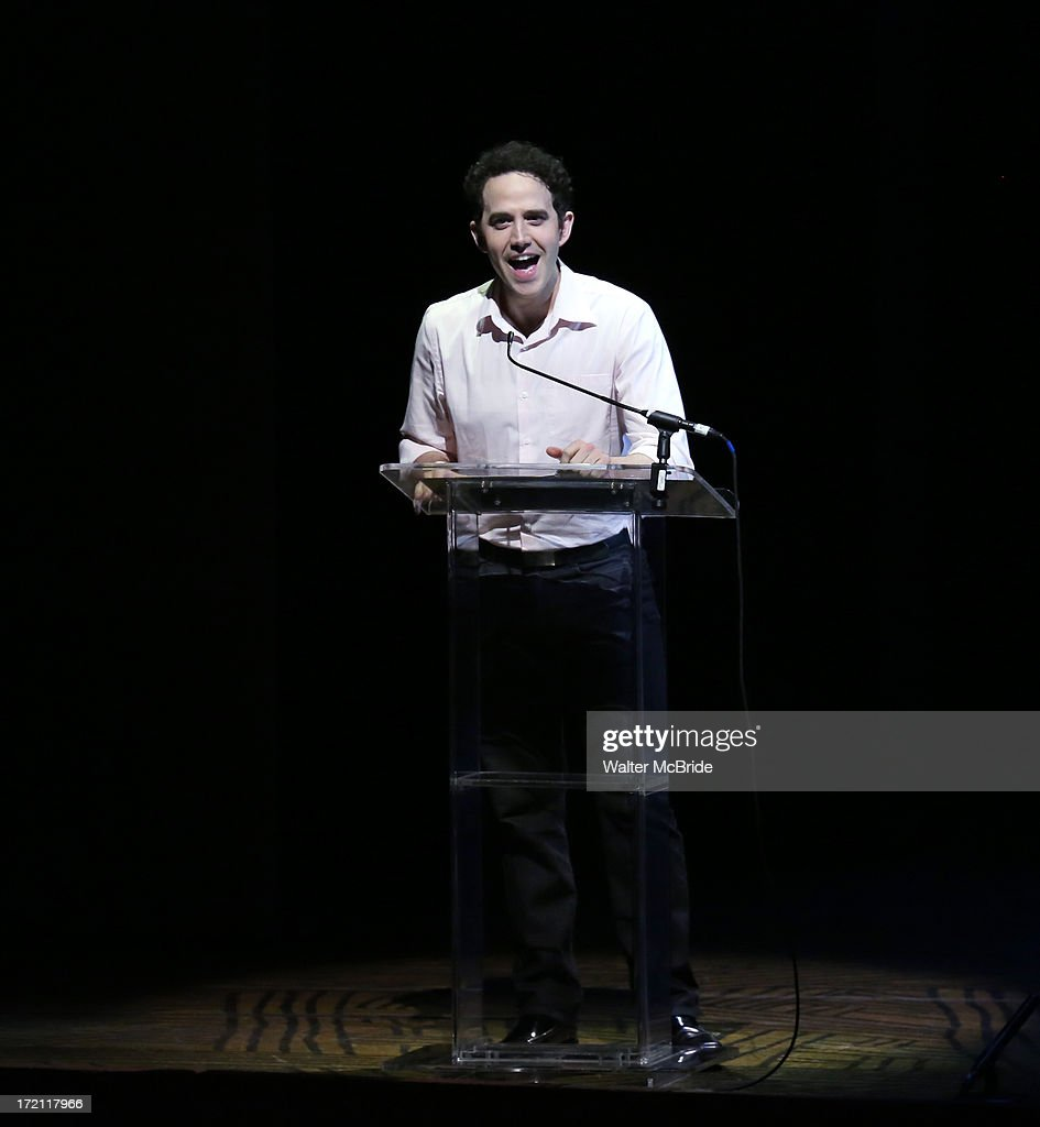 Santinio Fontana performs at the 5th Annual National High School Musical Theater Awards at Minskoff Theatre on July 1, 2013 in New York City.