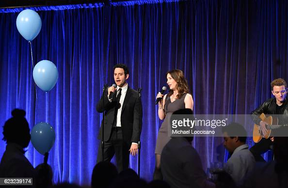 Santino Fontana and Jessica Fontana perform on stage during Worldwide Orphans 12th Annual Gala at Cipriani Wall Street on November 14 2016 in New...