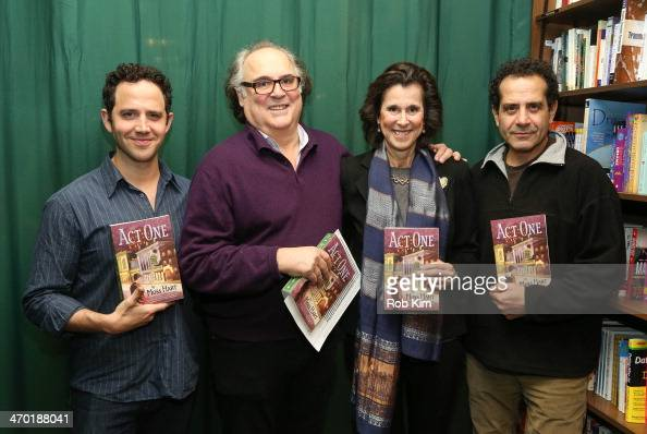Santino Fontana Christopher Hart Catherine Hart and Tony Shalhoub attend a discussion about the upcoming play 'Act One' based on playwright Moss...