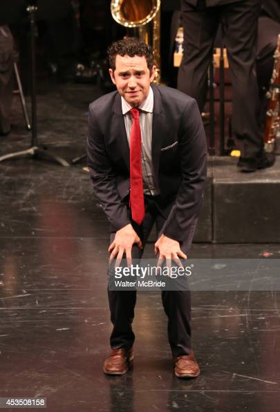 Santino Fontana performing at the Transport Group Theatre Company's production of 'The Music Man' at The Signature Theatre Company's Pershing Square...
