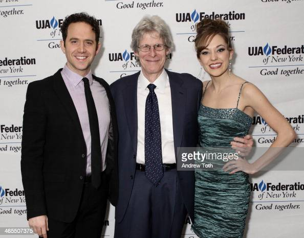 Santino Fontana Ted Chapin and Laura Osnes attend the UJAFederation of New York's Theater Division 2014 Excellence In Theater award dinner at St...