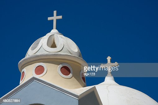 Santorini Church, Greece : Stock Photo