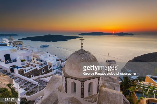Santorini Fira Sunset