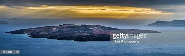 Santorini Volcano pano