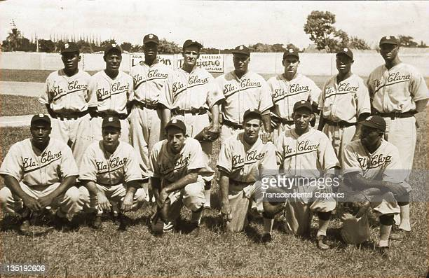 Santos Amaro Jose Maria Fernandez and Sam Bankhead are among the Santa Clara Leopards baseball club that poses for a team portrait in Boulanger Park...