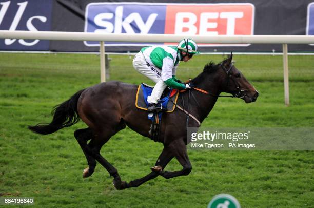 Santry ridden by Jim Crowley wins The British Stallion Studs EBF Novice Stakes during day two of the Dante Festival at York Racecourse