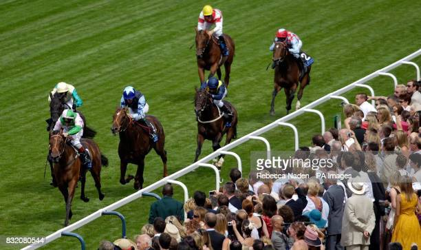 Santulagi and jockey John Egan wins The Indore Pears Diamond Winkfield Stakes at Ascot racecourse
