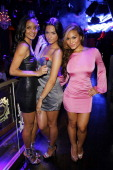 Sanya Hughes Antoinette Nikprelaj and Daphne Joy Mermaids of 'Pirates Of The Caribbean On Stranger Tides' host at Chateau Nightclub Gardens on June 3...
