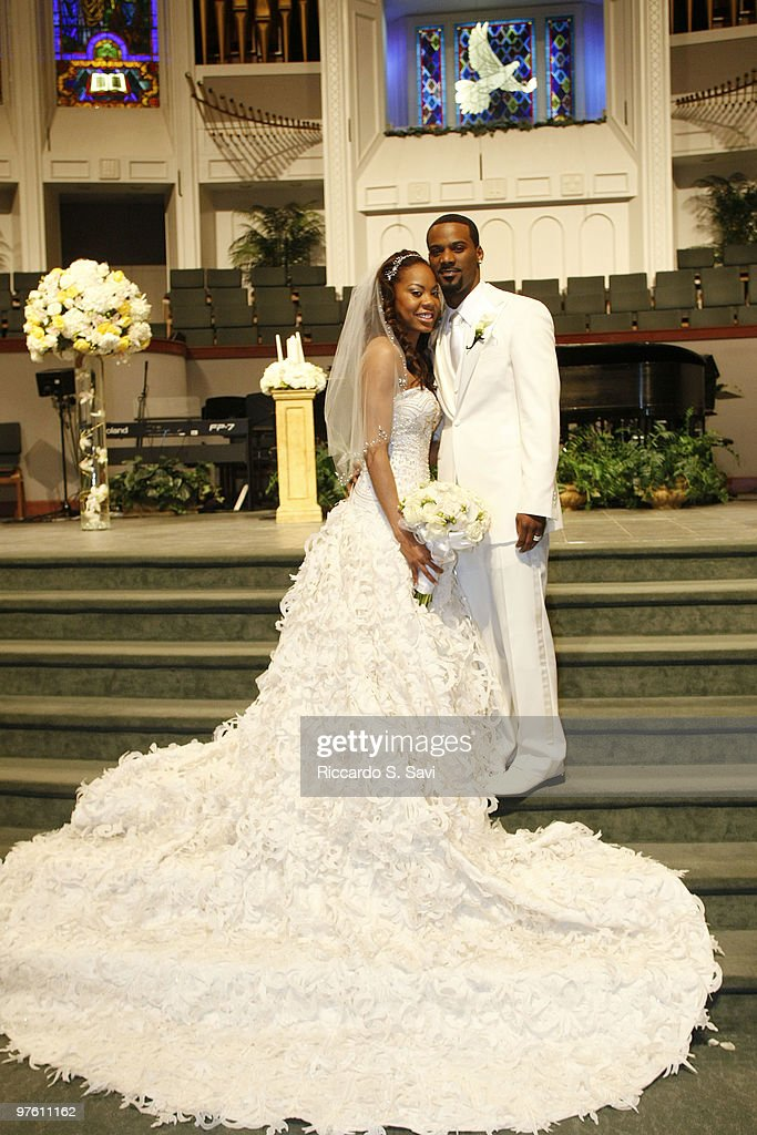 Sanya Richards And Aaron Ross At Their Wedding On February 26 2010 In Austin