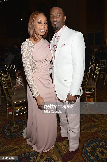 Sanya RichardsRoss and Aaron Ross attend the Christopher Dana Reeve Foundation's A Magical Evening Gala at Cipriani Wall Street on November 21 2013...