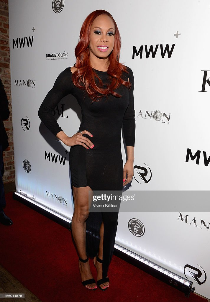 Sanya Richards-Ross attends KWL's 4th Annual Sports And Entertainment Celebration Honoring NFL's Rising Stars Colin Kapernick And Robert Quinn at Manon on January 30, 2014 in New York City.