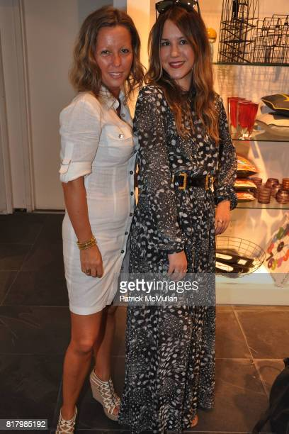 Sanzrine Briere and Stacy Drosatou attend Opening Night of AMBER De VOS's 'Me Nycelf and Eye' Hosted By Patrick McMullan at BoConcept Chelsea on...