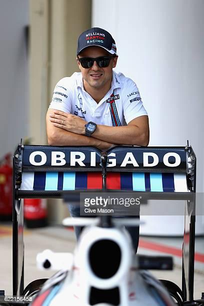 Sao Paulo Brazil – November 10 2016 Retiring Brazilian Formula One driver Felipe Massa of Williams and Brazil was emotional today when Williams...
