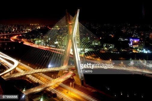 Sao Paulo Cable-stayed Bridge : Stock Photo