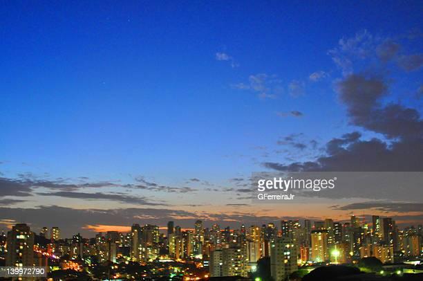 Sao Paulo city at sunset