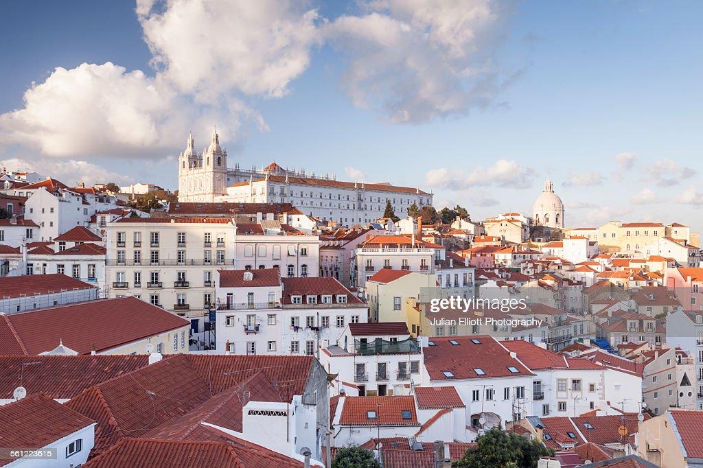 Sao Vicente de Fora Church and the Alfama, Lisbon.