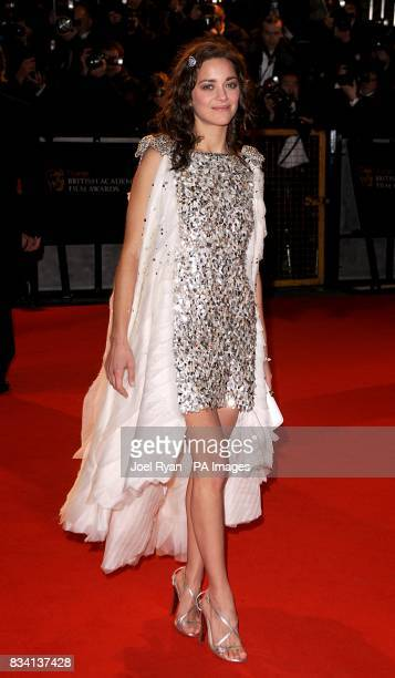 Saoirse Cotillard arrives for the 2008 Orange British Academy Film Awards at the Royal Opera House in Covent Garden central London