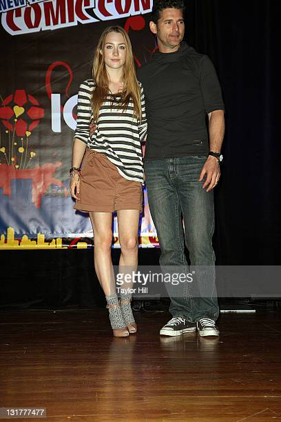Saoirse Ronan and Eric Bana attend the 2010 New York Comic Con at the Jacob Javitz Center on October 9 2010 in New York City