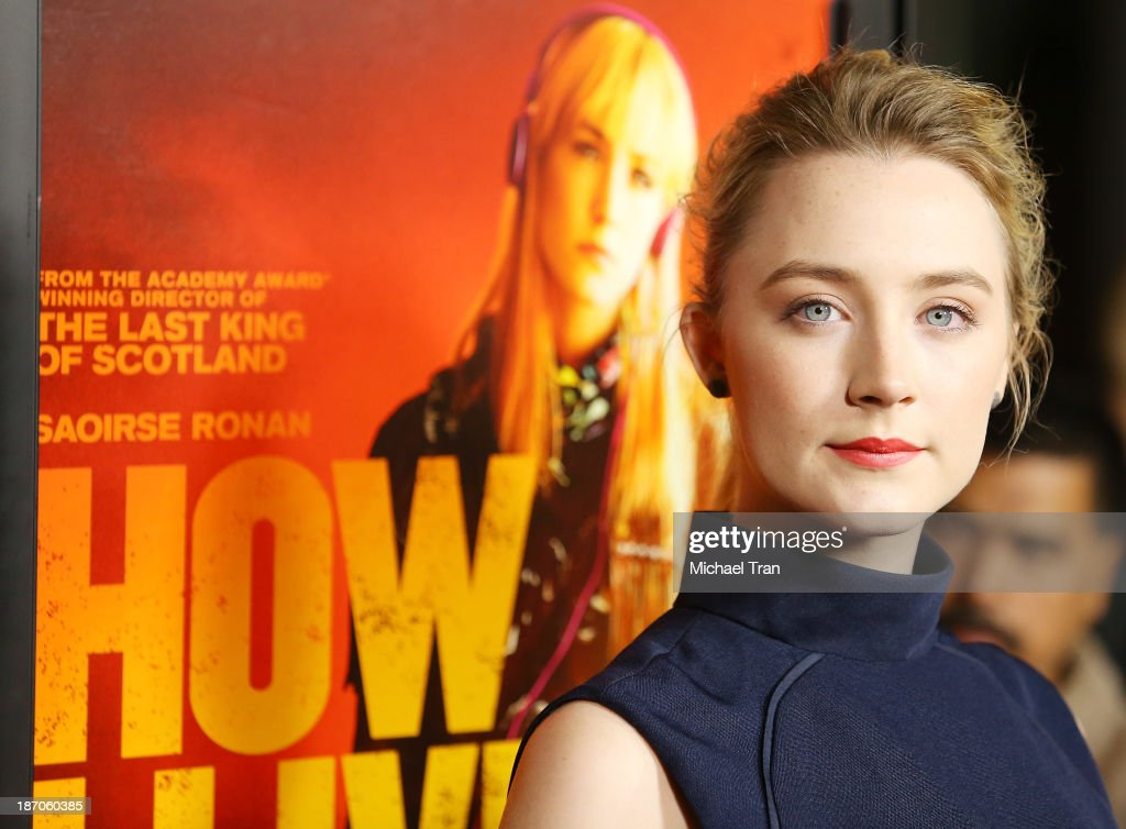Saoirse Ronan arrives at the Los Angeles premiere of 'How I Live Now' held at ArcLight Hollywood on November 5 2013 in Hollywood California