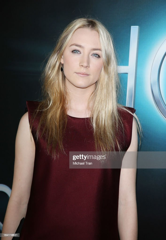 Saoirse Ronan arrives at the Los Angeles premiere of 'The Host' held at ArcLight Cinemas Cinerama Dome on March 19, 2013 in Hollywood, California.