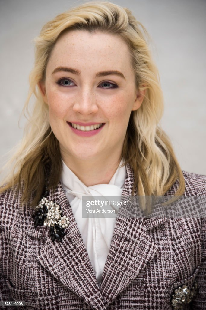 Saoirse Ronan at the 'Lady Bird' Press Conference at the Four Seasons Hotel on November 9, 2017 in Beverly Hills, California.
