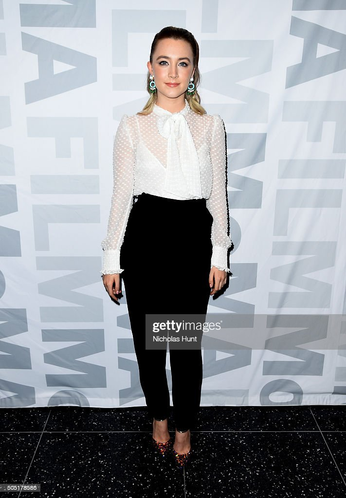 Saoirse Ronan attends MoMA Film's The Contenders screening of 'Brooklyn' at Museum of Modern Art on January 15 2016 in New York City