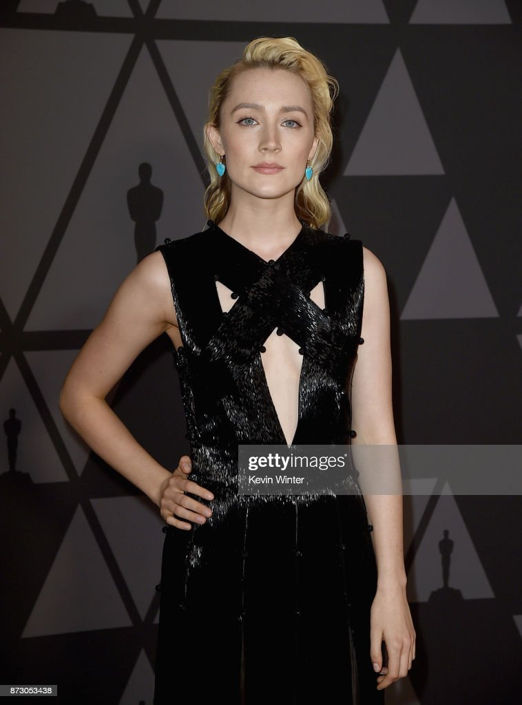 Saoirse Ronan attends the Academy of Motion Picture Arts and Sciences' 9th Annual Governors Awards at The Ray Dolby Ballroom at Hollywood & Highland Center on November 11, 2017 in Hollywood, California.