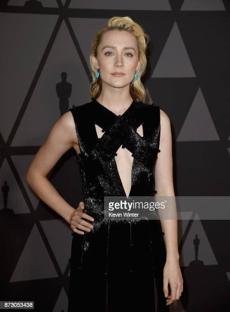 Saoirse Ronan attends the Academy of Motion Picture Arts and Sciences' 9th Annual Governors Awards at The Ray Dolby Ballroom at Hollywood Highland...