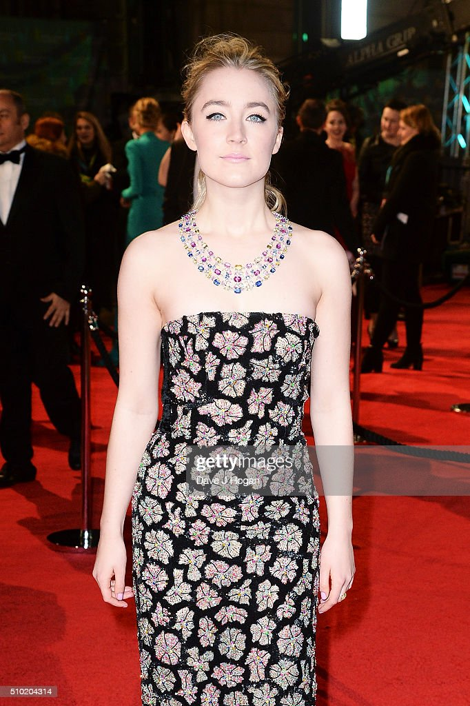 <a gi-track='captionPersonalityLinkClicked' href=/galleries/search?phrase=Saoirse+Ronan&family=editorial&specificpeople=4475637 ng-click='$event.stopPropagation()'>Saoirse Ronan</a> attends the EE British Academy Film Awards at The Royal Opera House on February 14, 2016 in London, England.