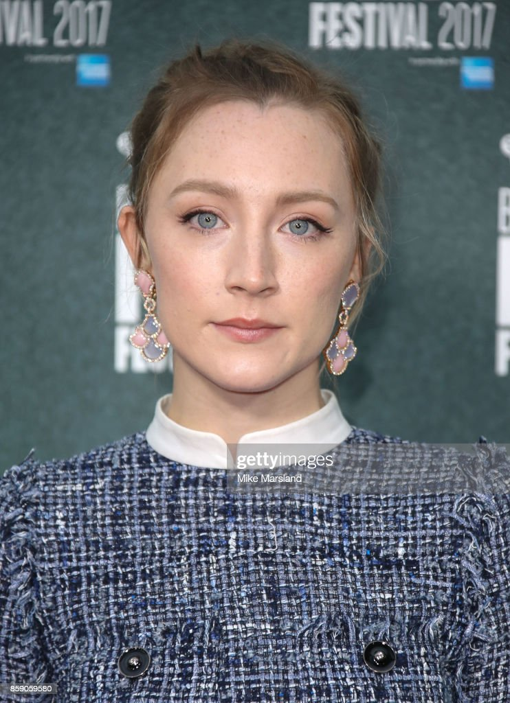 Saoirse Ronan attends the Love Gala & European Premiere of 'On Chesil Beach' during the 61st BFI London Film Festival on October 8, 2017 in London, England.