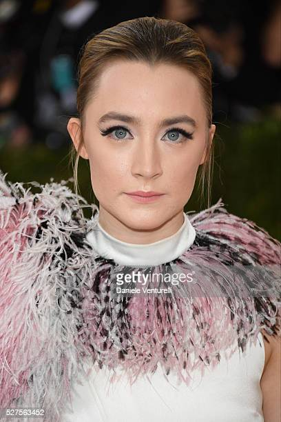 Saoirse Ronan attends the 'Manus x Machina Fashion In An Age Of Technology' Costume Institute Gala at the Metropolitan Museum on May 02 2016 in New...
