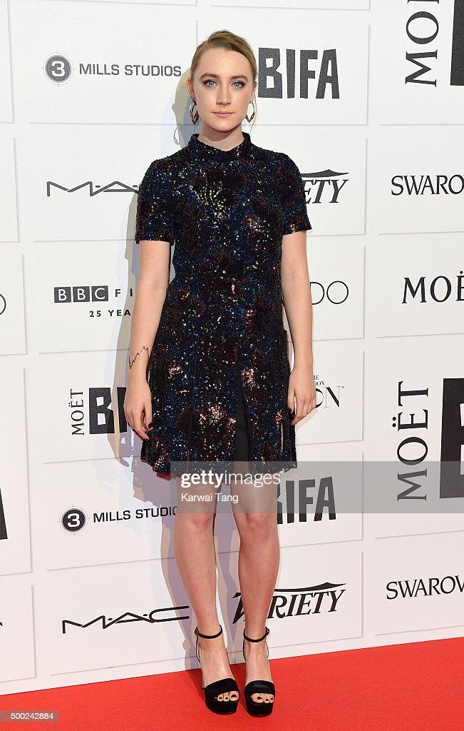Saoirse Ronan attends the Moet British Independent Film Awards at Old Billingsgate Market on December 6 2015 in London England