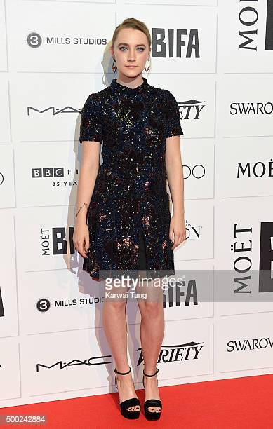 Saoirse Ronan attends the Moet British Independent Film Awards at Old Billingsgate Market on December 6 2015 in London England