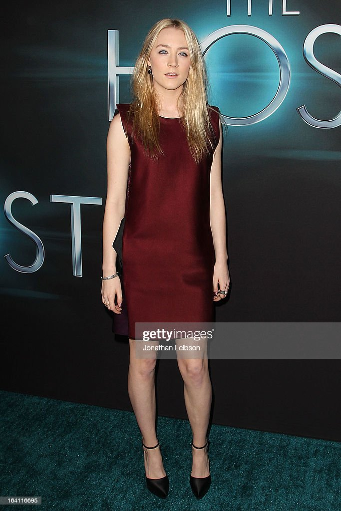 Saoirse Ronan attends the 'The Host' Los Angeles premiere at ArcLight Cinemas Cinerama Dome on March 19, 2013 in Hollywood, California.