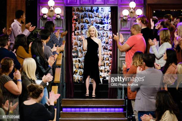 Saoirse Ronan greets the audience during 'The Late Late Show with James Corden' Wednesday November 8 2017 On The CBS Television Network