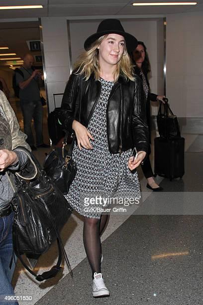 Saoirse Ronan is seen at LAX on November 06 2015 in Los Angeles California