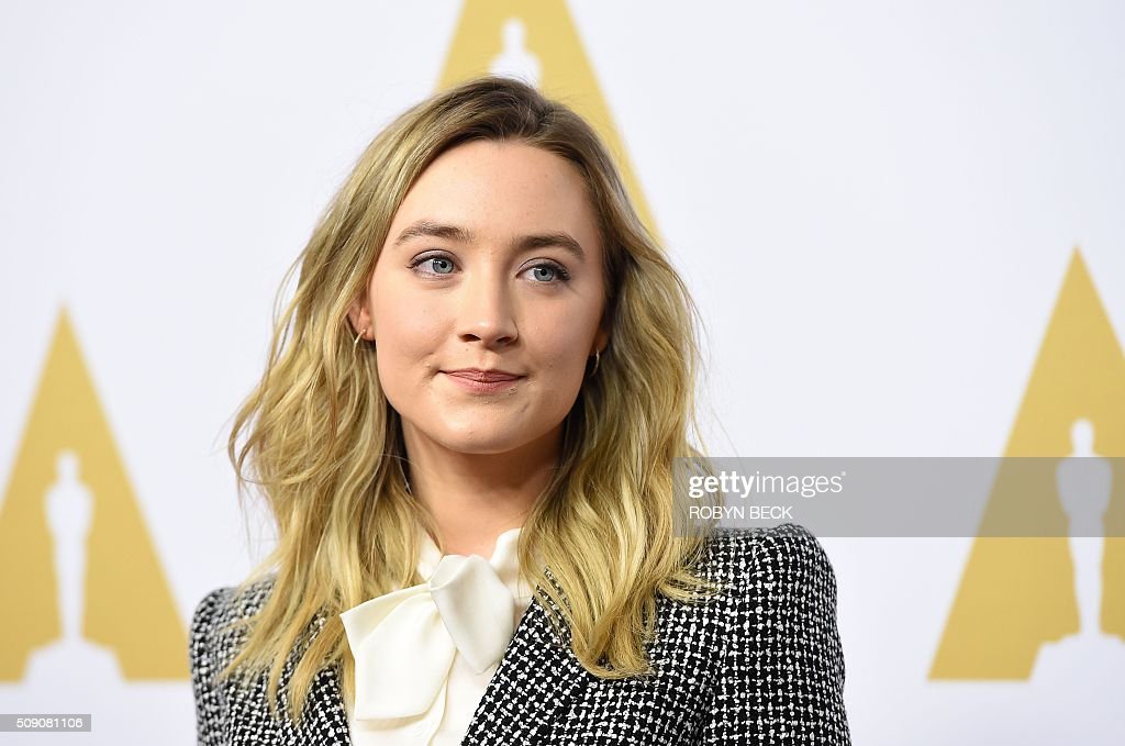 Saoirse Ronan, nominee for best actress in a leading role arrives at the 88th Oscar Nominees Luncheon in Beverly Hills, California, February 8, 2016. / AFP / ROBYN BECK