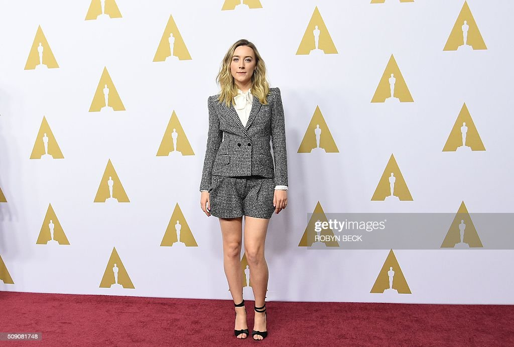 Saoirse Ronan, nominee for best actress in a leading Role arrives at the 88th Oscar Nominees Luncheon in Beverly Hills, California, February 8, 2016 / AFP / ROBYN BECK