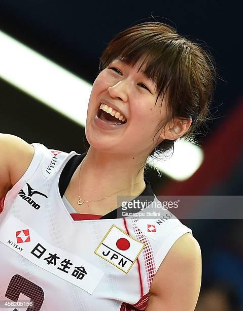 Saori Kimura of Japan during the FIVB Women's World Championship pool D match between Japan AND Puerto Rico on September 27 2014 Bari Italy