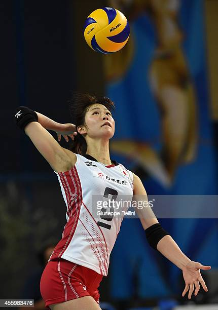 Saori Kimura of Japan in action the FIVB Women's World Championship pool D match between Japan and Azerbaijan on September 23 2014 in BariItaly
