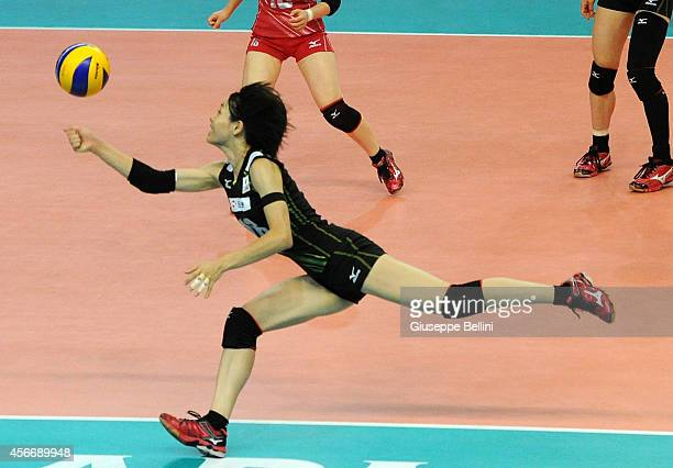 Saori Sakoda of Japan in action during the FIVB Women's World Championship pool E match between Dominican Republic and Japan on October 5 2014 in...