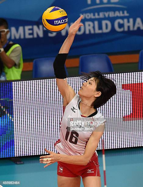 Saori Sakoda of Japan in action the FIVB Women's World Championship pool D match between Japan and Azerbaijan on September 23 2014 in BariItaly