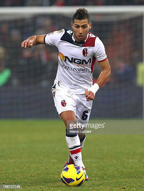 Saphir Sliti Taider of Bologna FC in action during the Serie A match between Genoa CFC and Bologna FC at Stadio Luigi Ferraris on January 6 2013 in...