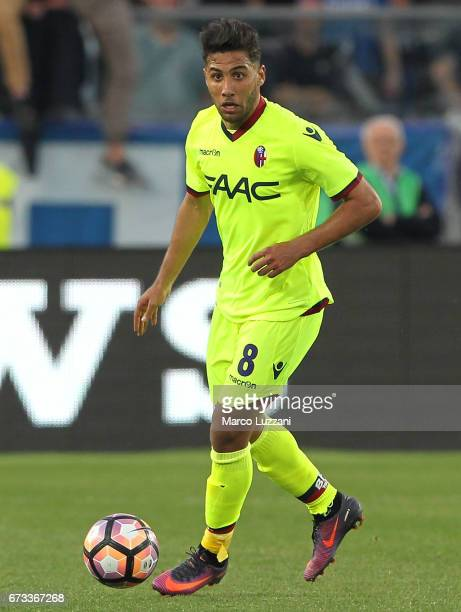 Saphir Sliti Taider of Bologna FC in action during the Serie A match between Atalanta BC and Bologna FC at Stadio Atleti Azzurri d'Italia on April 22...