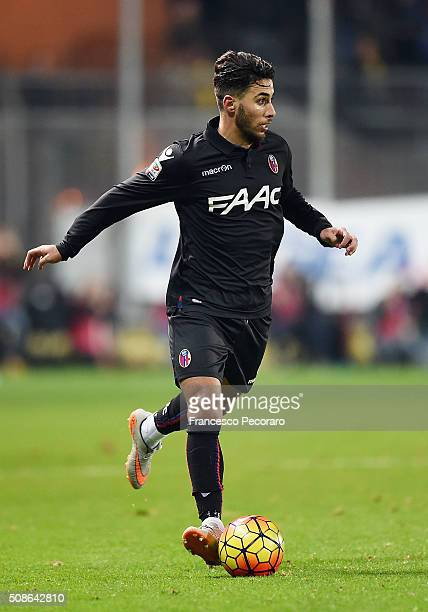 Saphir Sliti Taider of Bologna in action during the Serie A match between Frosinone Calcio and Bologna FC at Stadio Matusa on February 3 2016 in...