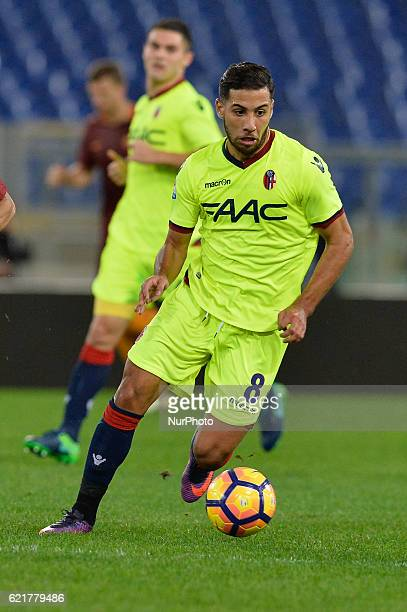 Saphir Taider during the Italian Serie A football match between AS Roma and FC Bologna at the Olympic Stadium in Rome on november 06 2016