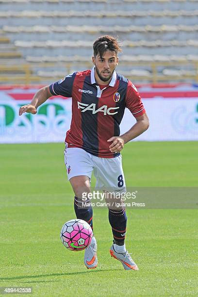Saphir Taider of Bologna FC in action during the Serie A match between Bologna FC and Frosinone Calcio at Stadio Renato Dall'Ara on September 20 2015...