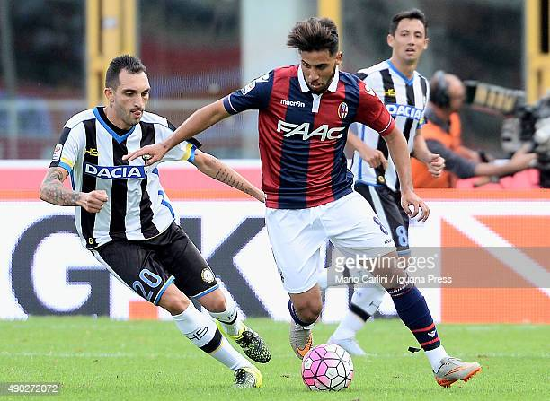 Saphir Taider of Bologna FC in action during the Serie A match between Bologna FC and Udinese Calcio at Stadio Renato Dall'Ara on September 27 2015...