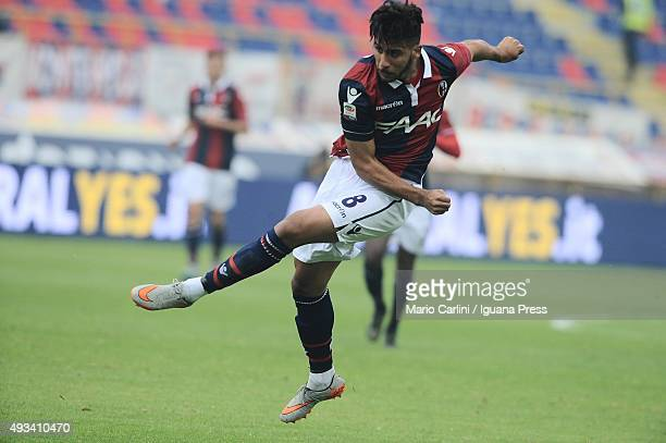 Saphir Taider of Bologna FC in action during the Serie A match between Bologna FC and US Citta di Palermo at Stadio Renato Dall'Ara on October 18...
