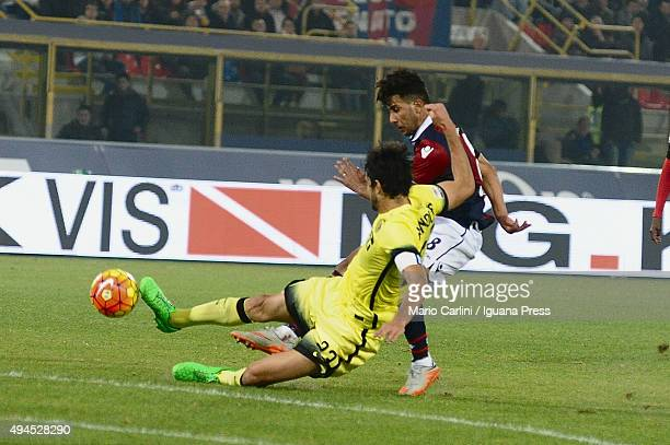 Saphir Taider of Bologna FC in action during the Serie A match between Bologna FC and FC Internazionale Milano at Stadio Renato Dall'Ara on October...